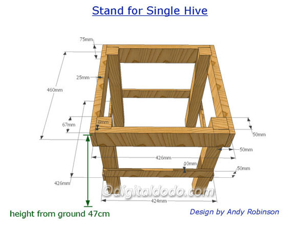 Building A Simple Hive Stand DigitalDodo